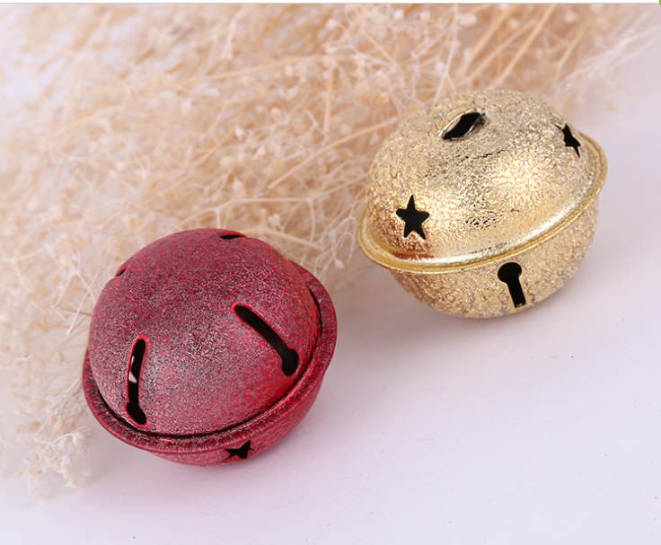 DIY Christmas environmental protection  ornament bell copper   red paint little bell