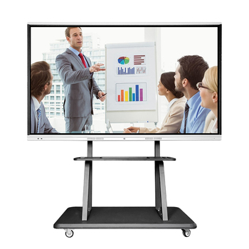 75 inch all in one touch screen pc 4k infrared 10 points touch interactive smart whiteboard for conference