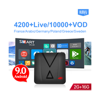 Free Test Code IUDTV PRO Account 12 Months Arabic French Poland Portugal Spanish Channels with MX10 Mini IPTV Box HD Wifi