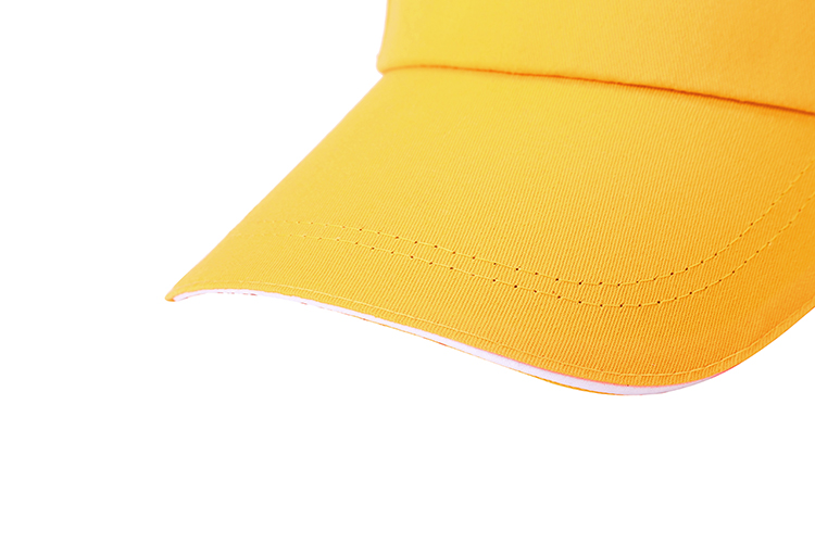 5 Panel Cotton Twill Sandwich Brim Metal Buckle Promotional Cap
