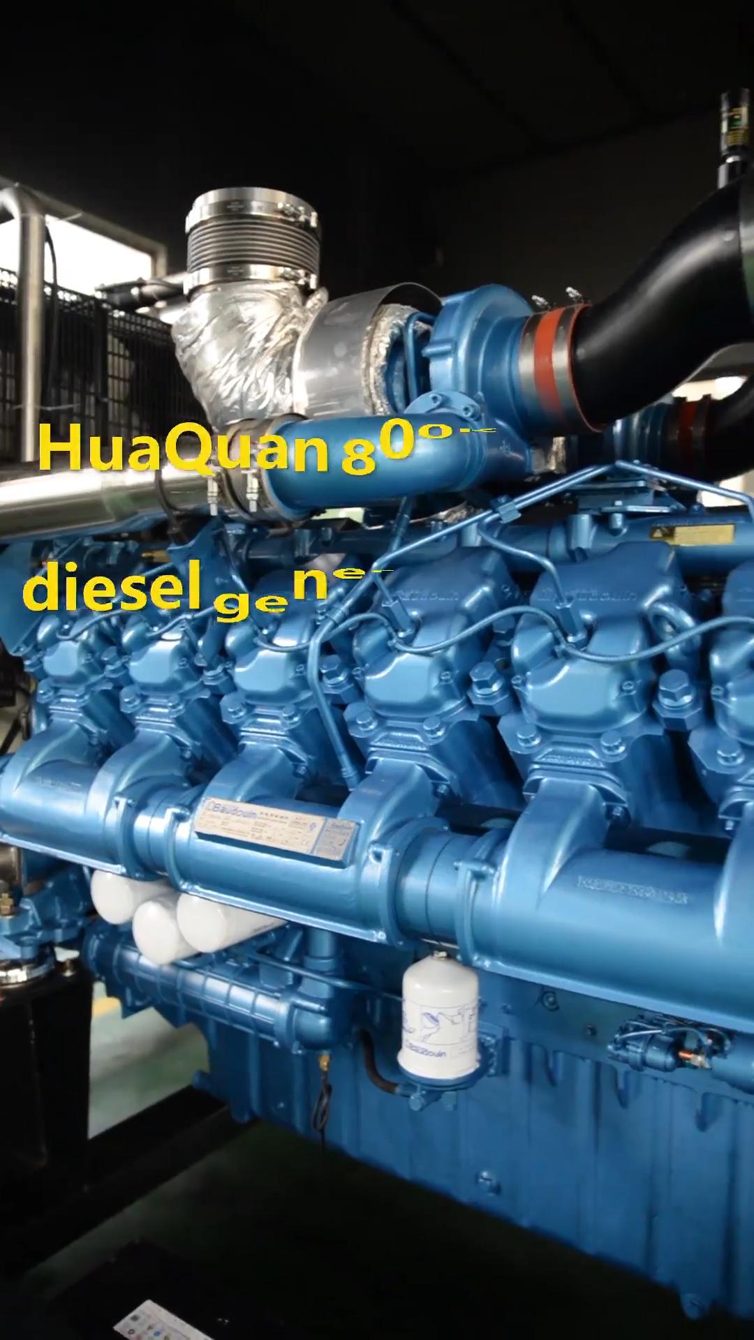 큰 엔진 1000kva 800kw 모터 자기 generador