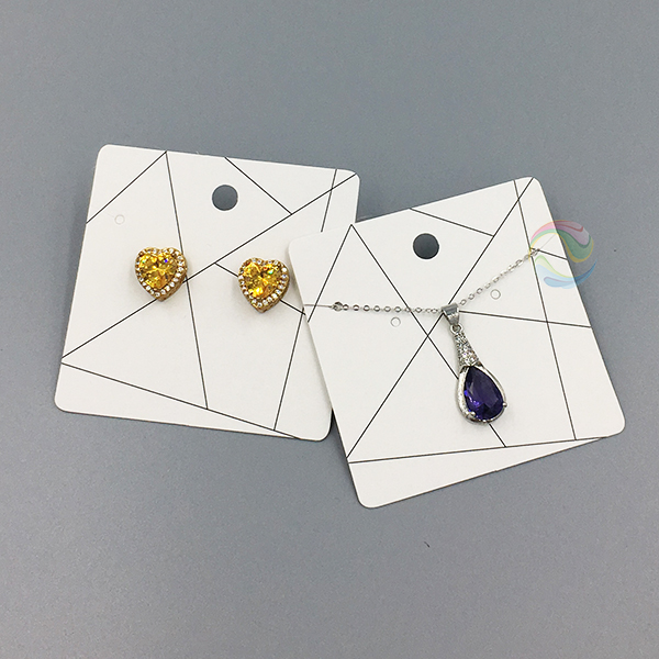 싼 Custom Personalized 종이 Necklace Earring 보석 Card with Logo