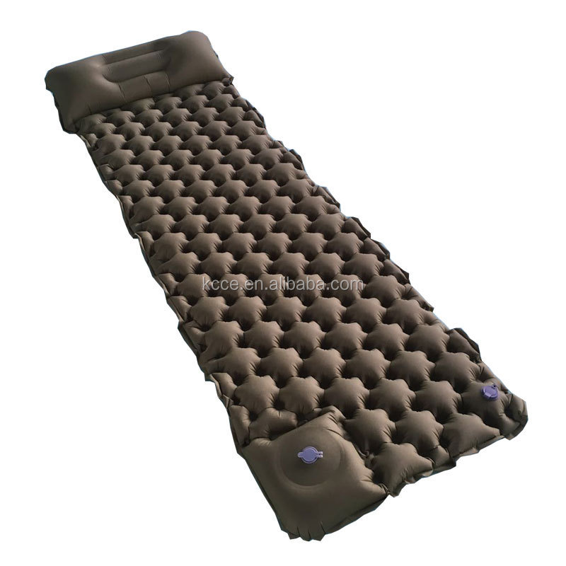 Foot Press Inflatable Lightweight Backpacking/Camping air sleeping mat pad