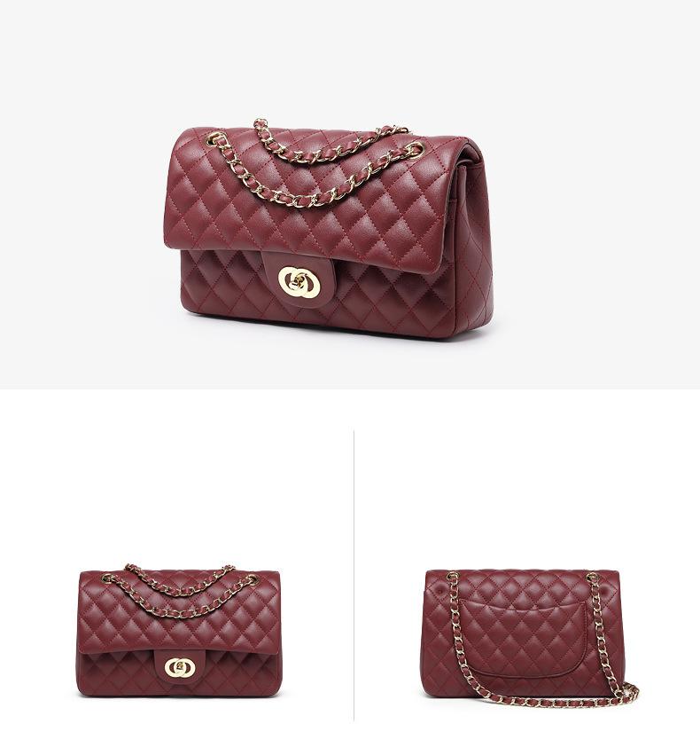 Wholesales Genuine Leather Chain Shoulder Ladies Clutch Wristlet Purses Custom Good Quality Women Evening Bag