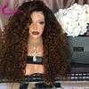 full lace wig human hair 200% density kinky curly wigs for black women