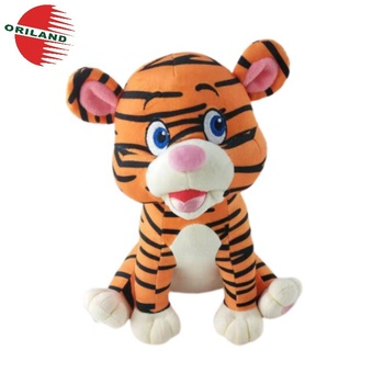 Wholesale eco-friendly toy recycled polyester RPET plush tiger stuffed toy