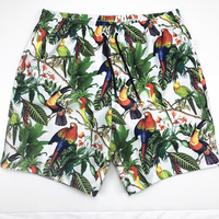 Newest design 100% polyester breathable mens summer beach casual shorts