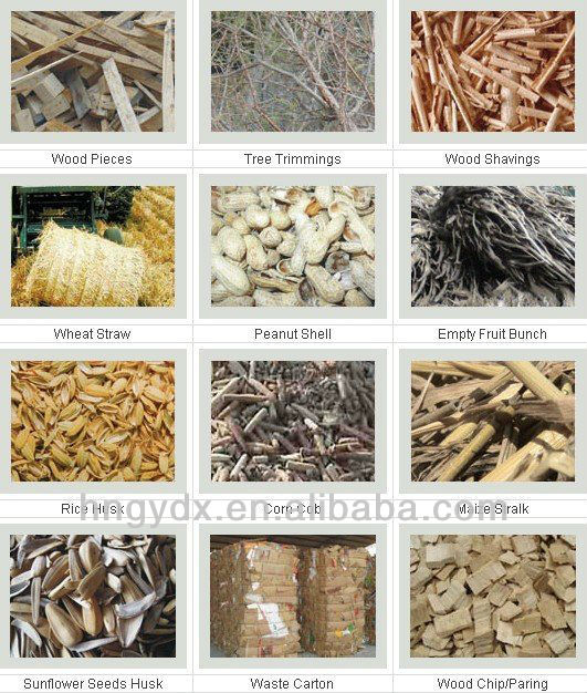 raw material for machine-made wood charcoal