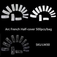 500 шт./пакет, Длинные Накладные накладные ногти на ногтях, накладные ногти на шпильках, полное покрытие, искусственные губки 10 размеров(Китай)