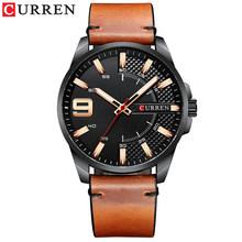 Лидирующий бренд Curren 8371, мужские часы, роскошные бизнес часы, водонепроницаемые мужские кварцевые кожаные Наручные часы, светящиеся стрелк...(Китай)