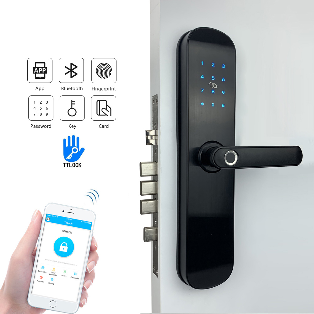Yoheen Elettronico di Sicurezza Smart Bluetooth App WiFi Codice Digitale IC Card Biometrico di Impronte Digitali Serratura Della Porta per la Casa