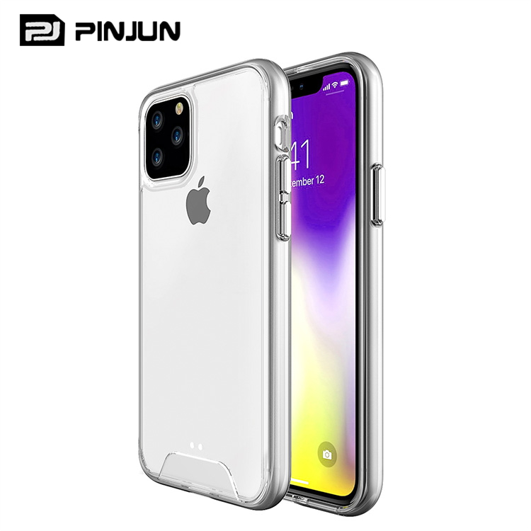 Voor iphone xi 5.8 2019 case slim clear nieuwste ruimte shell crystal transparant hard cover anti-kras telefoon gevallen