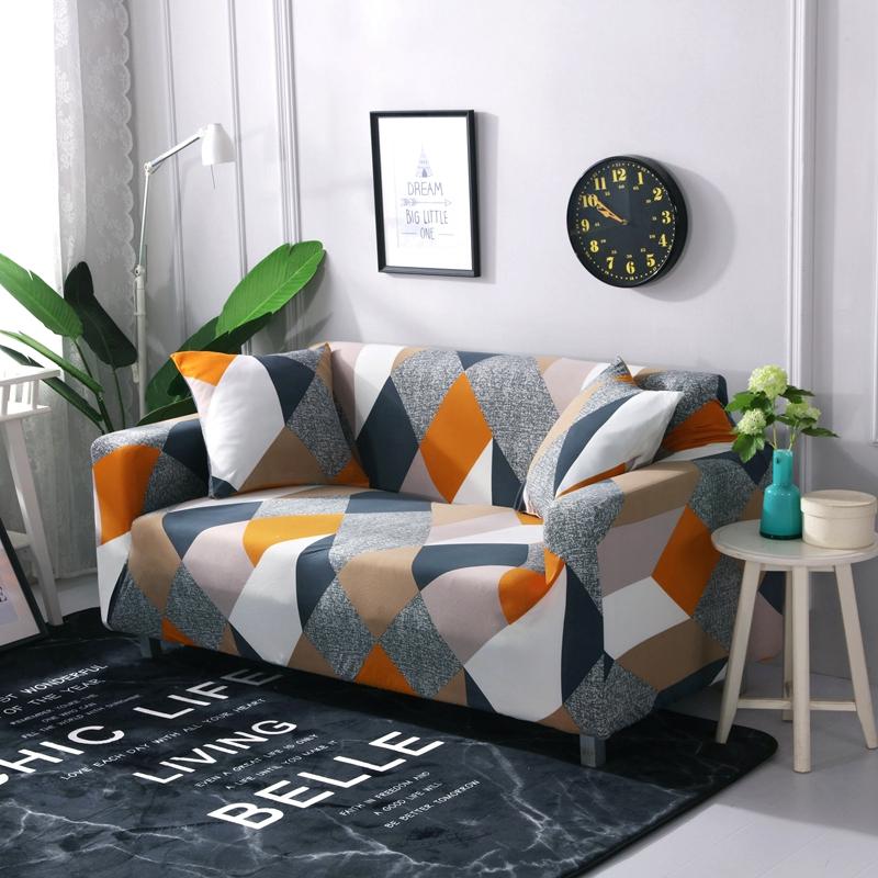 Venta caliente de alta calidad estirable 2 plazas mágico impreso sofá cubierta funda elástica