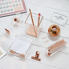 Light Luxury Office Gift Set Acrylic Rose Gold Stapler Organizer Supplies Desktop Accessories for Women