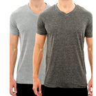Good Quality Cheap Price Comfortable Plain CVC V Neck T Shirt Wholesale for Men and Women RTS