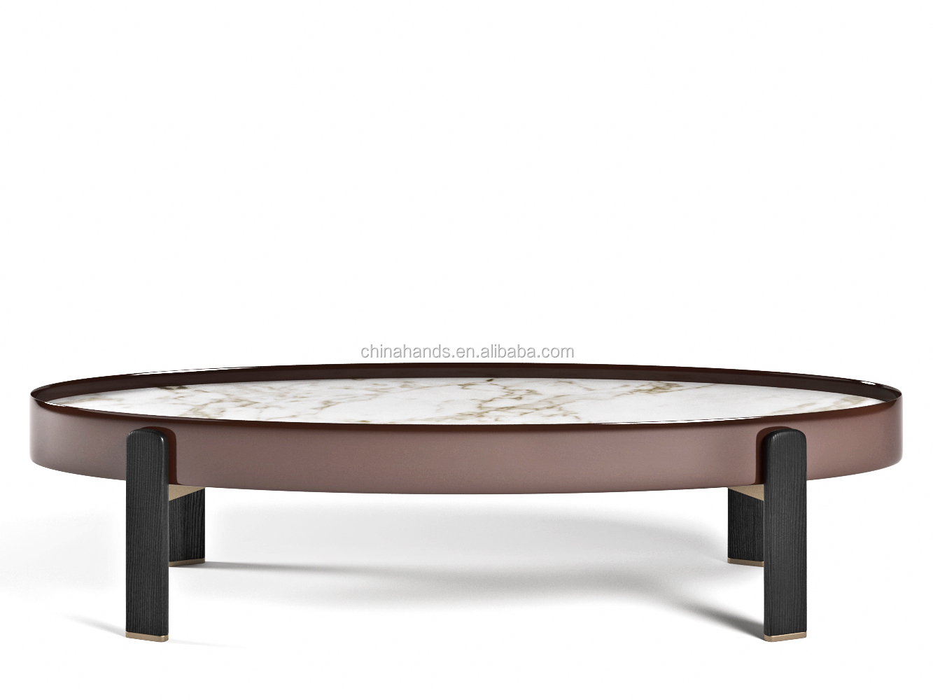MA-QPR35 5 Star hotel Furniture  Marble Table Top Metal Leg Coffee Table