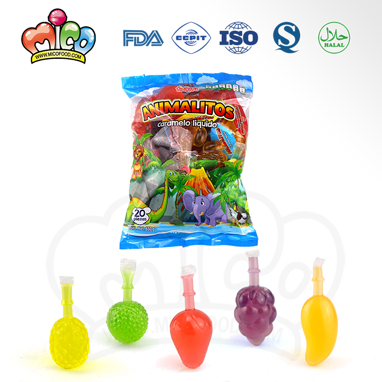 TIK Tok lowest price fruit shape jelly drink assorted jelly candy
