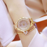 BS Bee sister Women Watches 2019 Luxury Brand Diamond Quartz Ladies Rose Gold Watch Stainless Steel Clock Dress Watch Ladies