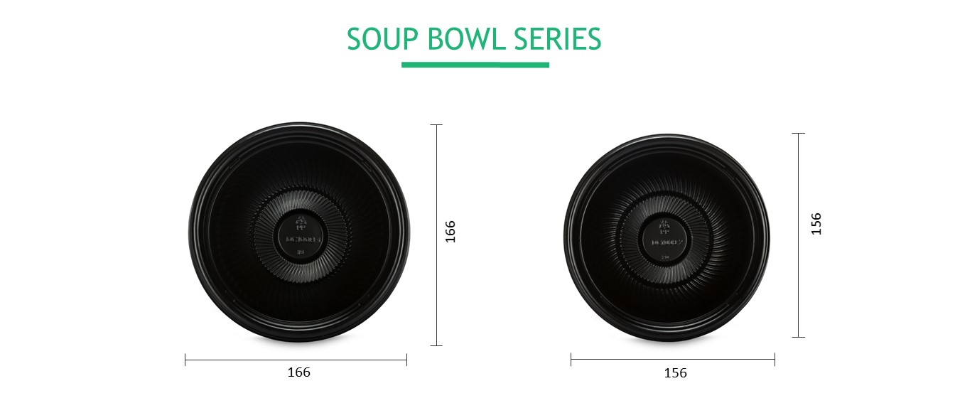 Wholesal color dispos microwav pp hot bento donburi soup bowl