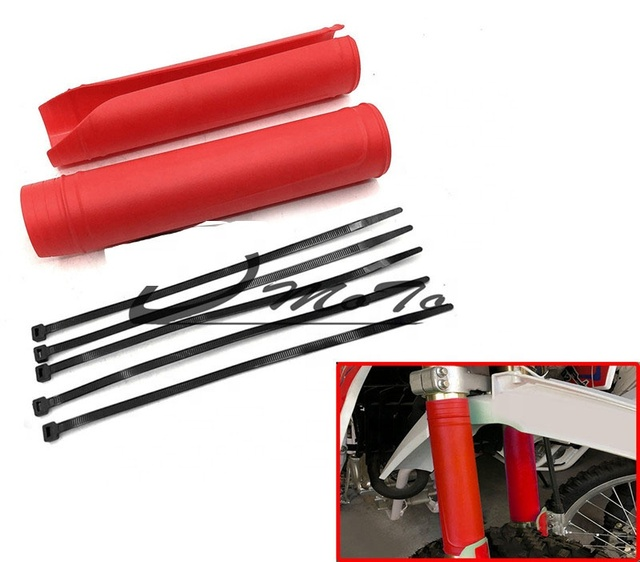 Details about  /Motorcycle Bike Rubber Front Fork Cover Protector Absorber Guard Wraps Cover