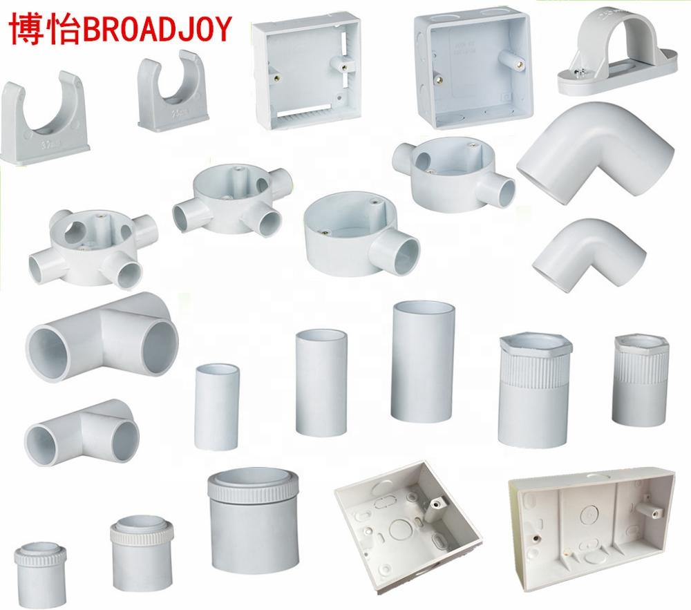 Pvc Electrical Wiring Cable Protector Conduit Pipe Accessories Fitting Buy Pvc Fittings Electrical Fitting Pipe Fitting Product On Alibaba Com