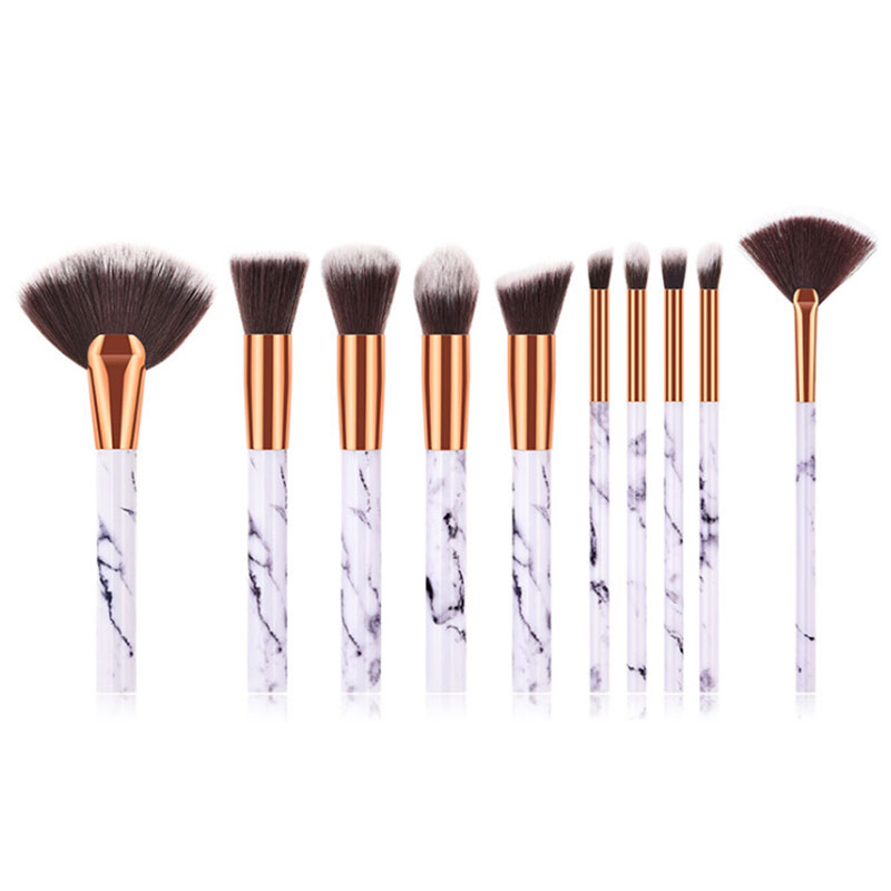 High Quality Personalised Luxury <strong>Makeup</strong> Marble Kabuki Brush Set <strong>Makeup</strong> 10 Pcs 2019 Free <strong>Sample</strong>
