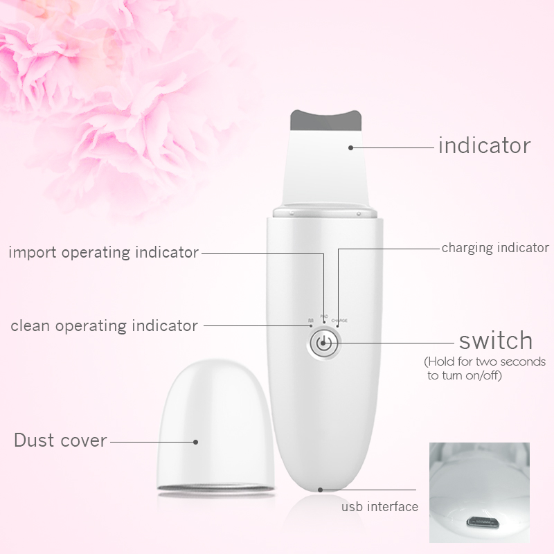 NEW 2020 Skin Scrubber Face Spatula, Pores Cleanser Exfoliator Blackhead Remover Comedones Extractor for Facial Deep Cleansing