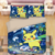 Home Textile Cartoon Pikachu movie detective Bed Sheet Single Size 100% polyester Printed 3D Bedding Set