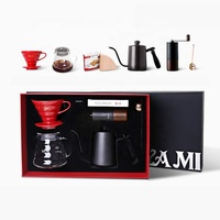 Exquisite Hand Brew Coffee Tools Hand-made Brew V60 Dripper Coffee Gift Set