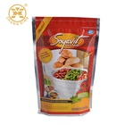 Leak proof metallic standing bag packaging doypack for mexican food/ spice sauce/ condiment sauce