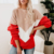Women's Long Sleeve Color Matching Lady Bottoming Shirt Winter New Ladies Knit Sweater