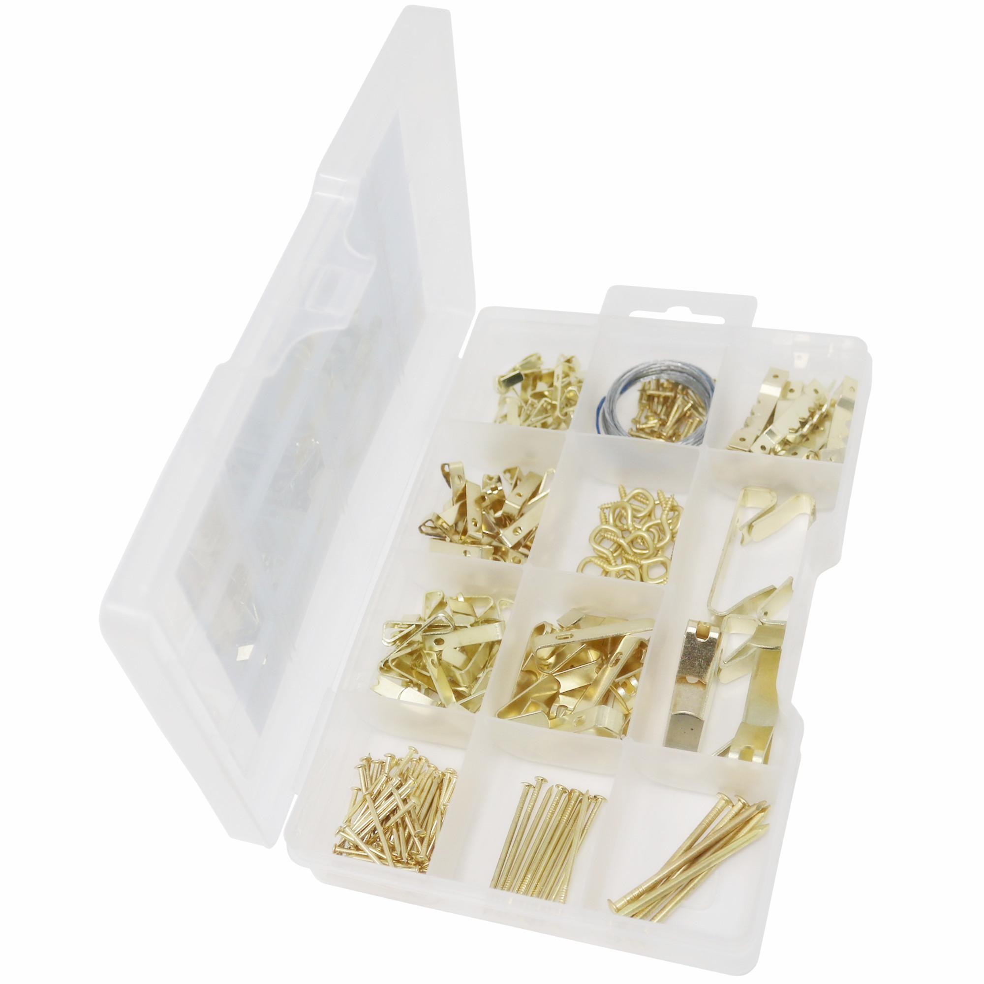 Factory direct supply Customizable packaging for DIY tools 85pcs Oval Head Nails and Picture Hangers And <strong>Hooks</strong> Assortment Kit
