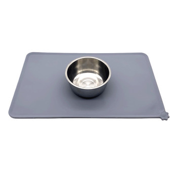 BHD Custom Waterproof Non Slip Non-Stick Dog Cat Feeding Bowl Placemat FDA Silicone Pet Food Mat