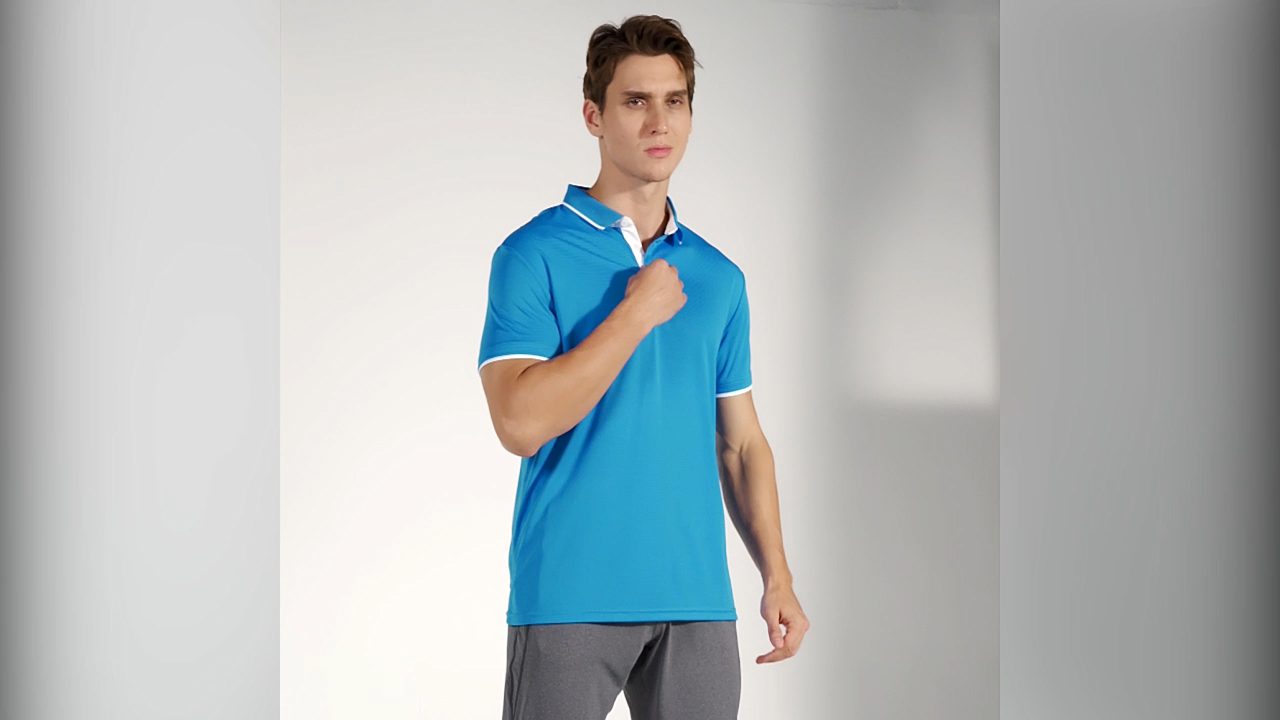 2020 Best Selling High Quality Men Custom Logo100 % Polyester Quick Dry Sports Golf Polo T Shirt Wholesale