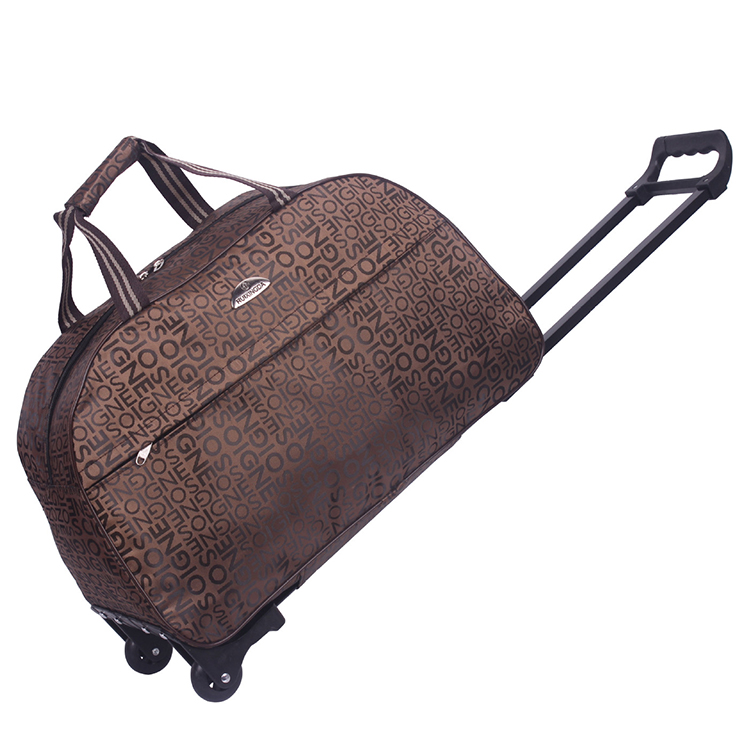 Outdoor travel sport trolly luggage, men women holiday polo trolley travel bag