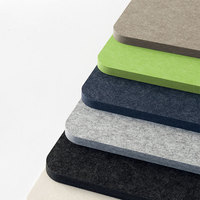 24mm High Density Light Grey Charcoal Sound Absorption PET Acoustic Panels Polyester Felt Acoustic Panels