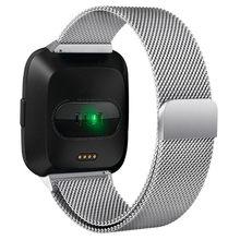 Ремешок Milanese Loop для умных часов Fitbit Versa/Lite/Versa2, сменный металлический браслет из нержавеющей стали, 2 ремешка(Китай)