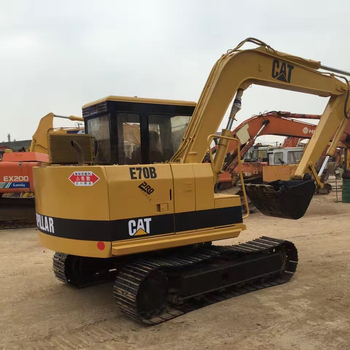 USED CAT E70B Crawler Excavator with working condition in stock