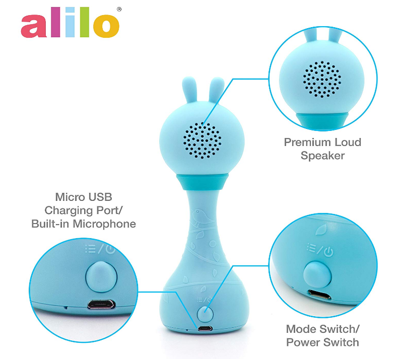 Alilo Smarty Bunny Newborn Rhymes Stories Color Learning Music Player Smart Story Teller electronic Toy Rattle