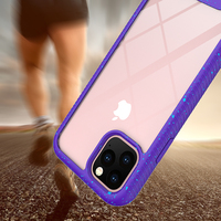 For iPhone 11 Splash Color Case, Non-Slip TPU Bumper Transparent Back Cover Full Body Rugged Phone Cover for Apple iPhone 11