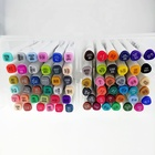 24/36/48/60/170 Colors Art Marker Set, Artist Dual Head Alcohol Based Sketch Copic Markers