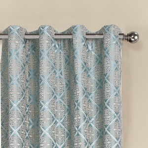 "European style curtain 102""curtain Fancy Jacquard Printed Blackout Window Curtains and drapes for the living room luxury"