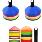 Sports Training Agility Cone Football Equipment Soccer Disc Soccer Football Ball Training, Random Color 20X6 cm