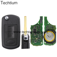 3 button remote key with 315mhz NO Rechargeable battery for landrover Discovery3 RangeRover sport