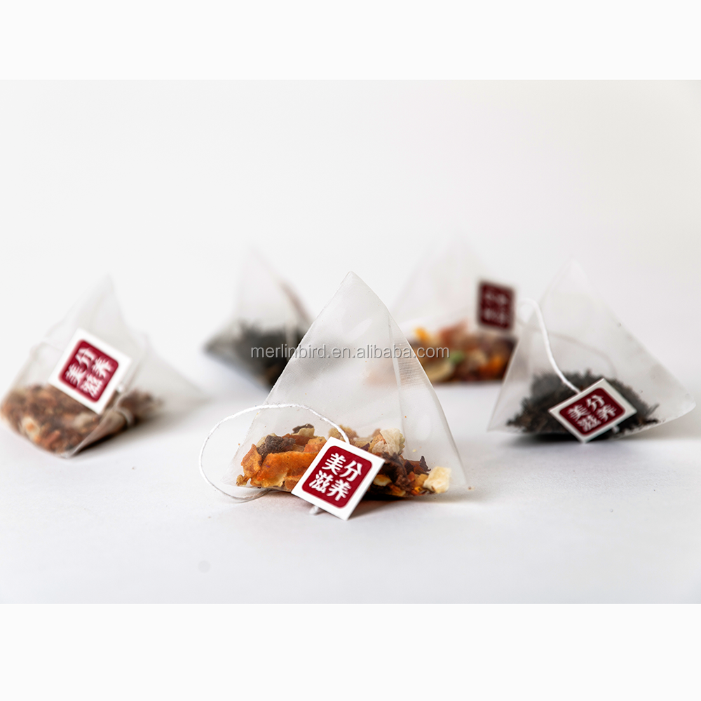 Heat Sealing Nylon Pyramid Shape Tea Bag With String Slimming Black Tea - 4uTea | 4uTea.com