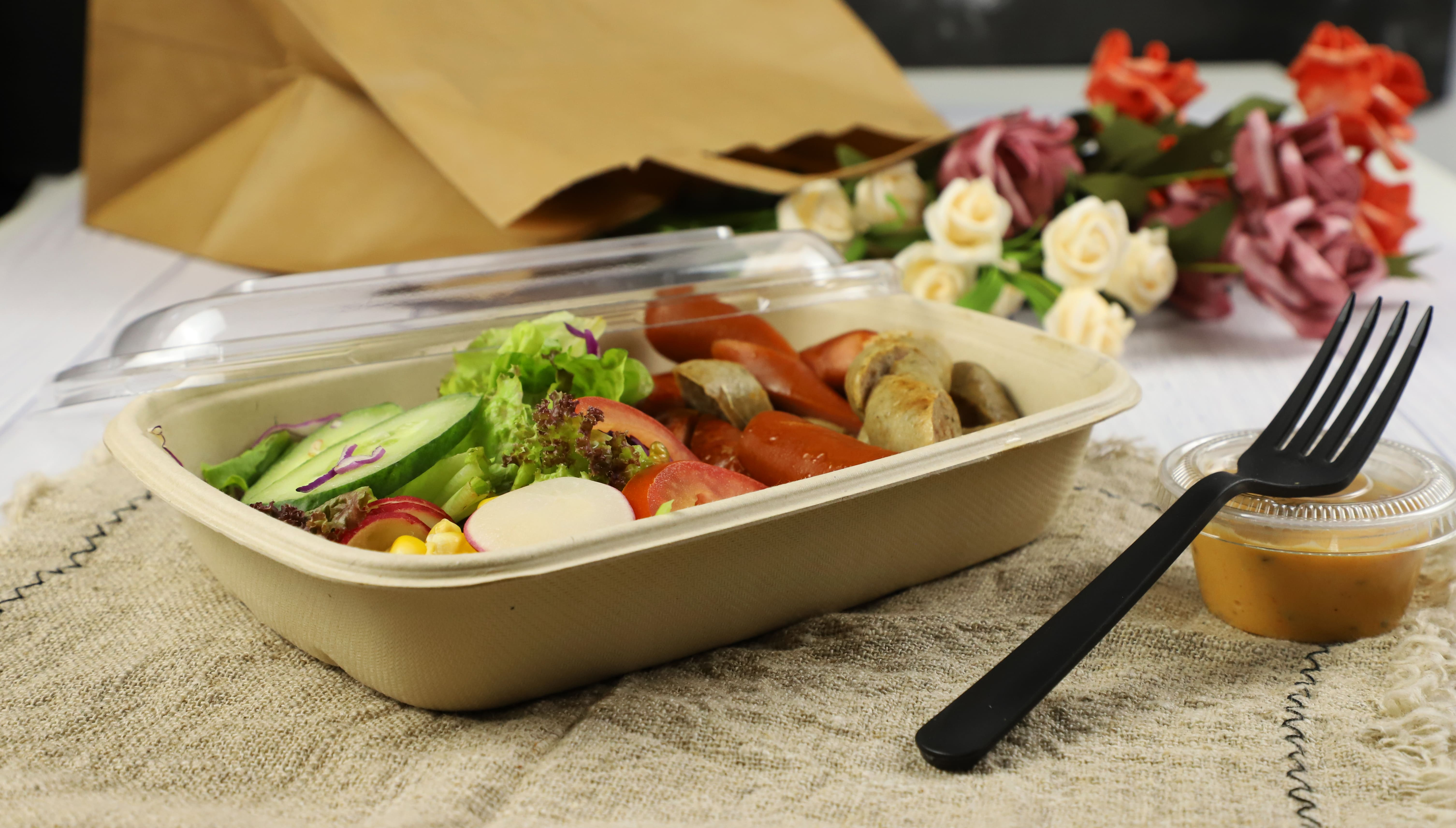 Custom accept disposable food packaging dishes for restaurant