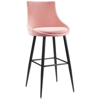 Modern Nordic Style Metal Tube Frame Velvet Cover Restaurant Bar Stool High Chair for Party Club