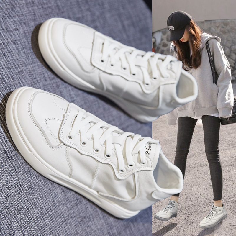 2020 Fashion Style Simple Design Breathable Women Leather Shoes Ladies Flat Shoes