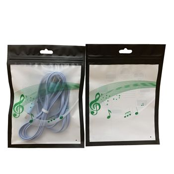 Free Sample Customized Printing Reclosable Zipper Clear Mobile Phone Case Bag USB Cable Packaging Bag