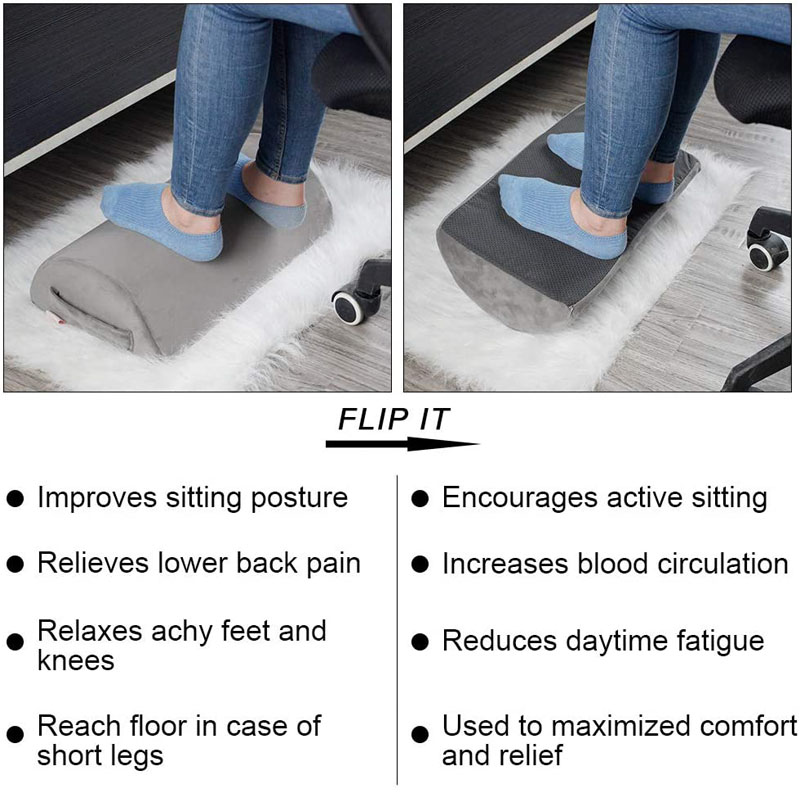 Memory Foam Pillow Supports Back, Head, Leg Knee Pain Relief, Bed, Chair Seat Foot Rest Under Desk Cushion
